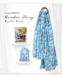 Bamboo Sling Cuddle Me Bird Blue