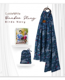 Bamboo Sling Cuddle Me Bird Navy