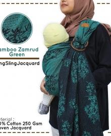 Ring Sling Cuddle Me Jacquard Bamboo Zamrud Green