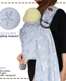 Ring Sling Cuddle Me Jacquard Jasmine Blue