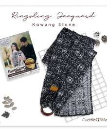 Ring Sling Jacquard Cuddle Me Kawung Stone