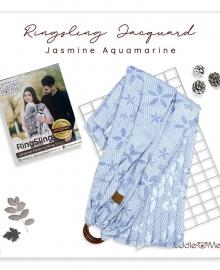 Ring Sling Jacquard Jasmine Aqua Marine