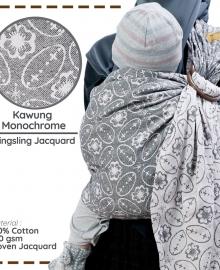 Ring Sling Cuddle Me Jacquard Kawung Monochrome