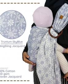 Ring Sling Jacquard Truntum SkyBlue