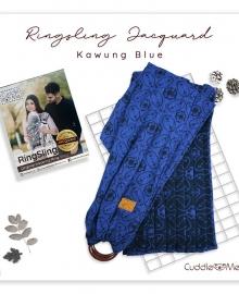 Ring Sling Jacquard Cuddle Me Kawung Blue