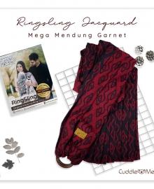 Ring Sling Jacquard Mendung Garnet