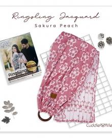 Ring Sling Jacquard Sakura Peach