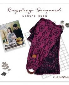 Ring Sling Jacquard Sakura Ruby